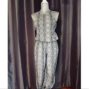 Aztec Print Black & White Jumpsuit